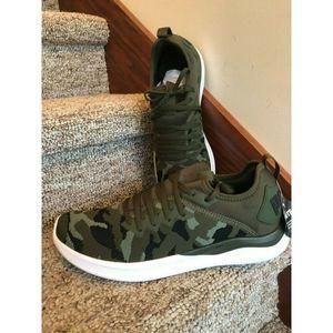 Puma Ignite Flash evoKnit Men Camo Green Shoes 14